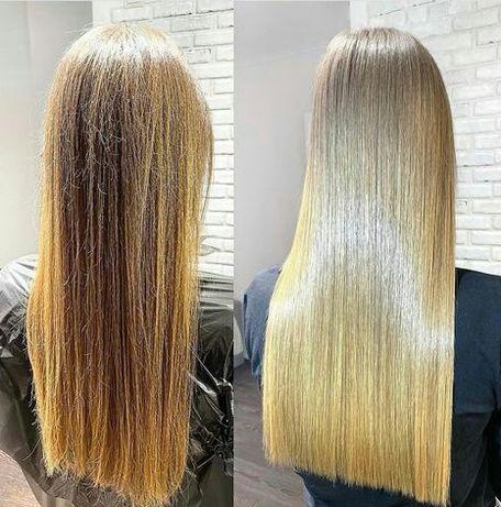 Ботокс волос и кератиновое выпрямление.