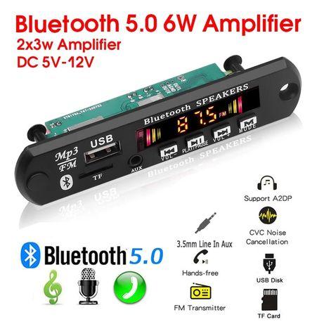 MP3 player 2x3 W/12 V/ 5.0 Bluetooth модул за вграждане Sd /Fm/Aux