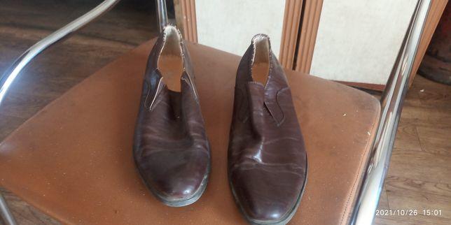 Туфли мужские коричневые б/у