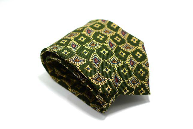 Cravata Barbati Drake's 10 x 149 cm Verde Matase Abstract CRR7