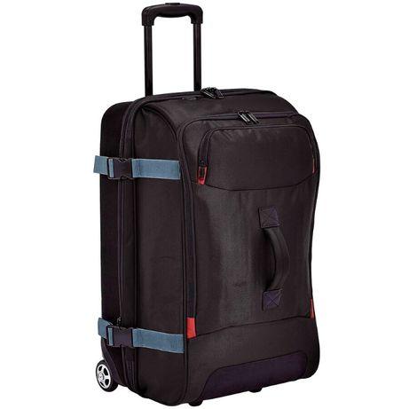 Куфар AmazonBasics, С колела, Телескопична дръжка, Черен