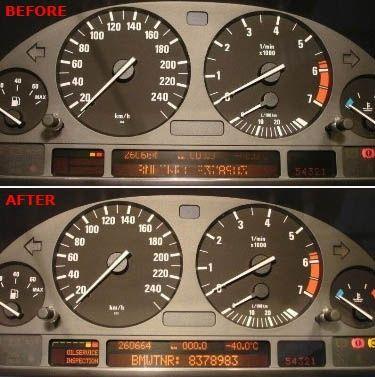 Ремонт на изгорели пиксели на табло и мид на BMW Е39,Е38, X5, E53