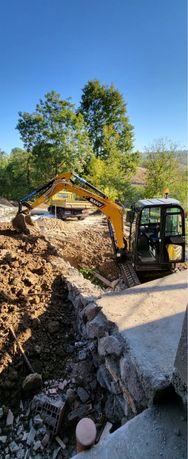 Inchiriem mini excavator de 4 tone nou 2021!