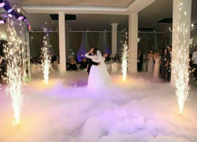 Fum greu gheata carbonica evenimente nunti petreceri dansul mirilor