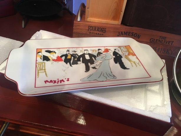 Rafinat platou-Maxim s Paris (Pierre Cardin)si recipient gheata,Franta