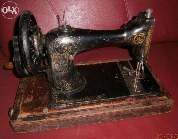 masina cusut Singer cu suveica cartus, an 1889, functionala, portabila