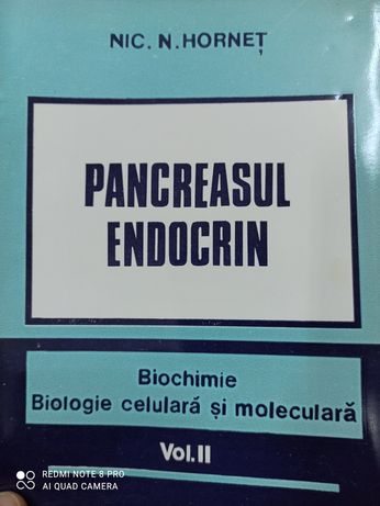 Pancreasul endocrin vol.2 -Nic Hornet, carte impecabila
