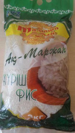 Рис ак маржан 3кг высший сорт.