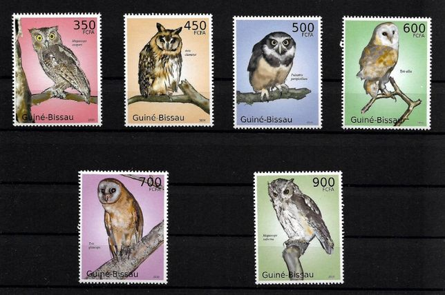 Super timbre serie timbre nestampilate PASARI, Guinea Bissau