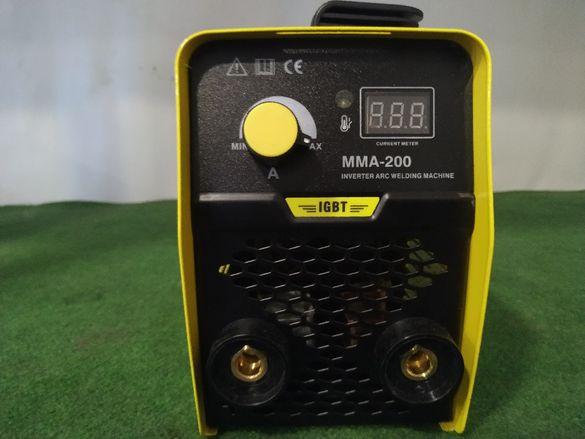 Електрожен инверторен ММА 200А с дисплей + ръкавици