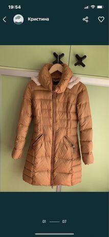 брендовое зимнее пуховое пальто/куртка united colors of benetton новое