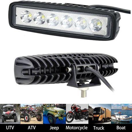 Халоген диоден 18W LED DRL Работна Лампа Светлина на 12V и 24V 1бр