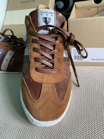 Pantofi sport casual Adidasi Pantofola d'Oro 40 originali piele maro