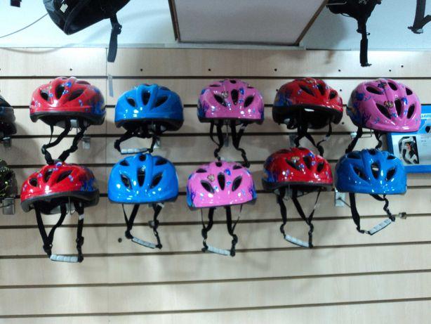 Детский велосипедный шлем размер 48 - 52, ассорти в цветах