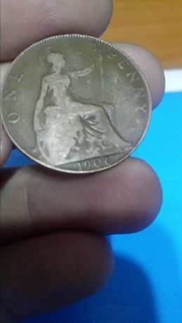 Monedă One Penny din 1906