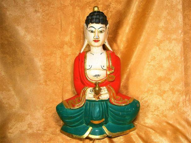 Sculptura statueta lemn Buddha Bali sec 19 colectie, cadou, vintage