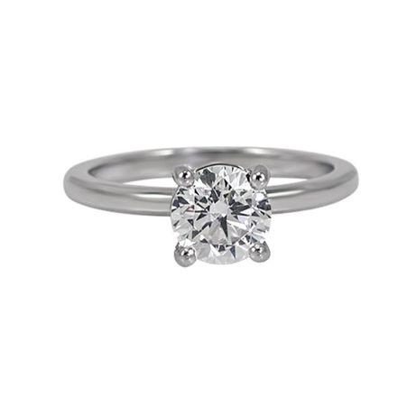 Inel Diamant Natural Solitaire/Logodna 0.75 Ct Claritate VS2 culoare F