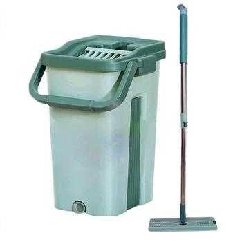 Комплект для уборки: волшебная швабра, ведро с отжимом и 2 насадки