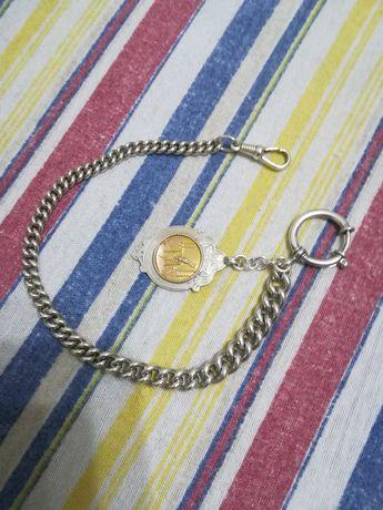 Lanț argint 925 pentru ceas de buzunar