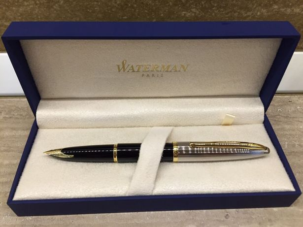 Stilou Waterman Carene Deluxe Black GT, penita aur masiv 18k