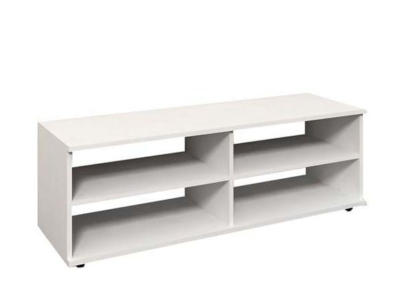 Бял ТВ шкаф/бяла етажерка за телевизор-120х37х40 см.