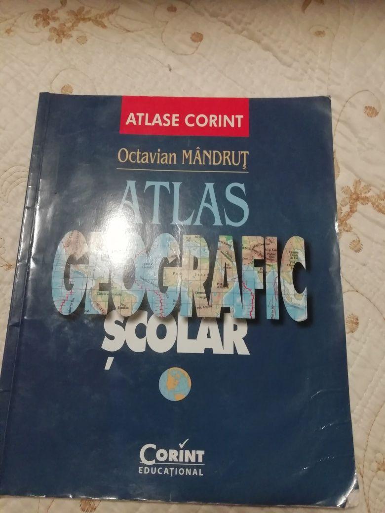 Vand carti de matematica de bac M1 si Atlas geografic