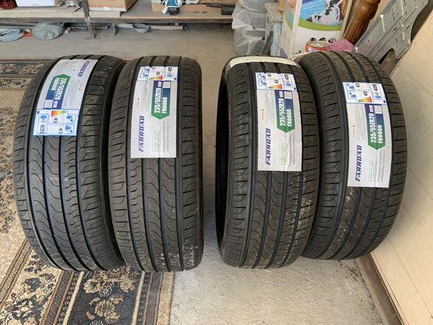 Новые летние шины (комплект) размером 235/55/20