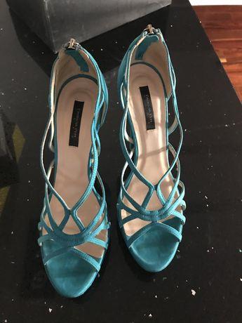 Оригинални сандали на ток Patrizia Pepe и Versace ест. кожа
