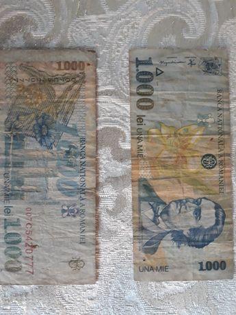 Bancnote de 1000 lei cu chipul lui Mihai Eminescu