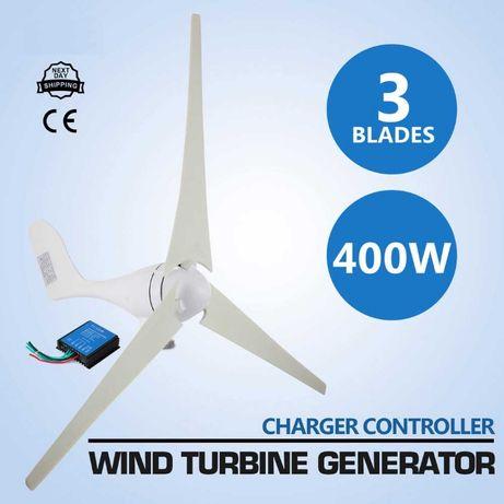 Продавам Нов ветрогенератор 400 вата 12/24v турбина перка вятърен гене