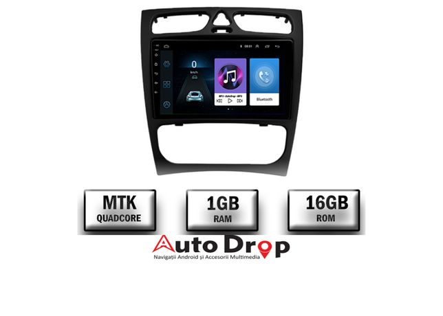 Navigatie Mercedes Benz C Class W203, CLK, Android 9.1, 1GB RAM, 9Inch