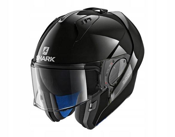 Шок цена! shark evo one 2 flip gloss black modular каска шлем за мотор