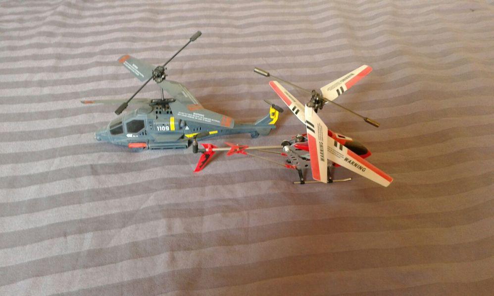 2бр.хеликоптери радиоуправляеми