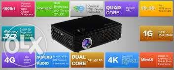 Videoproiector Tableta Z2000SD Android 3d 1500lumeni, HDMI, 4k, wirele