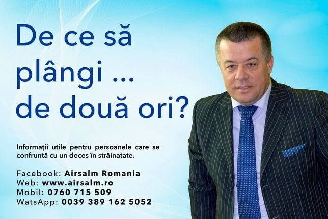 Airsalm. Servicii de Repatriere Decedati din Strainatate
