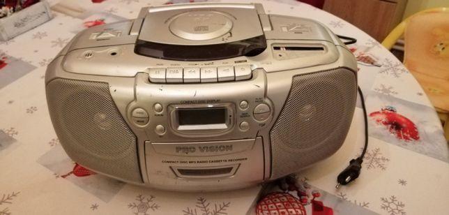 Radio casetofon cu CD, PRO Vision