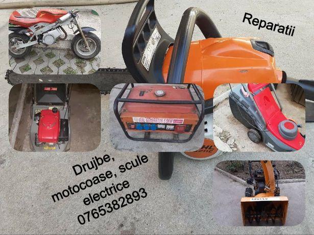 Reparatii drujbe, motocoase, motoare in 2T-4T si scule electrice
