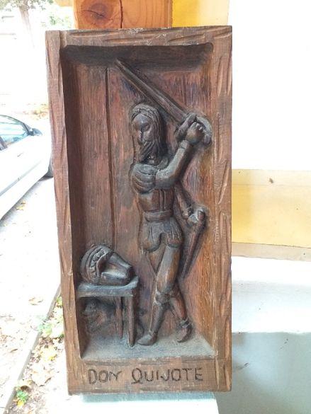 Дърворезба пано Дон Кихот