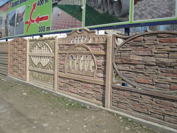 Gard durabil din placi beton. Botosani Suceava. Reduceri acum %