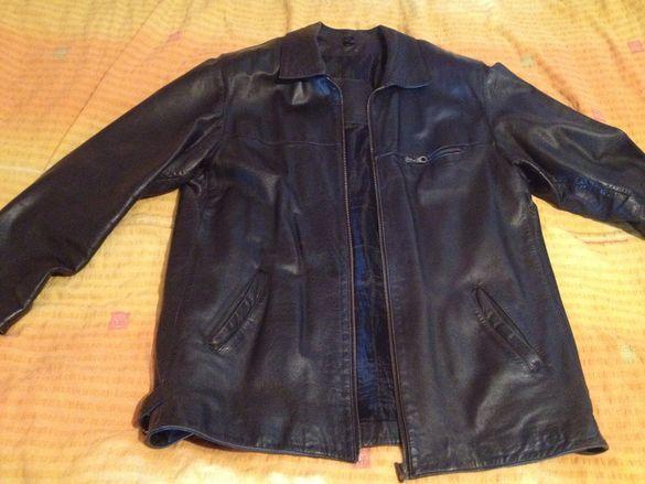 Кожено яке, черно, естествена кожа - размер XL