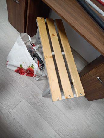 Banca lemn cu support metalic