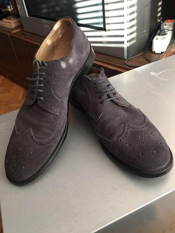 Велурени обувки - Armani - чисто нови