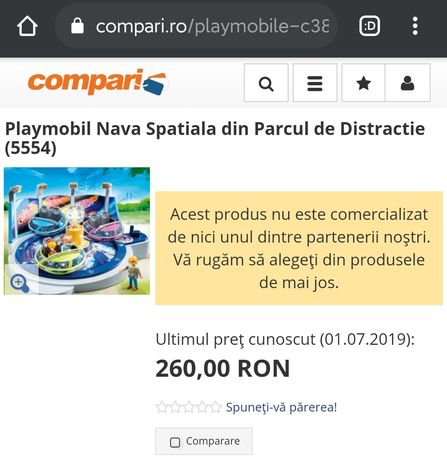 Playmobil 5554 nava spatiala Parc de distractii