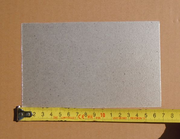 Placă micanit (mică izolatoare) 15x10 cm pentru cuptoare cu microunde