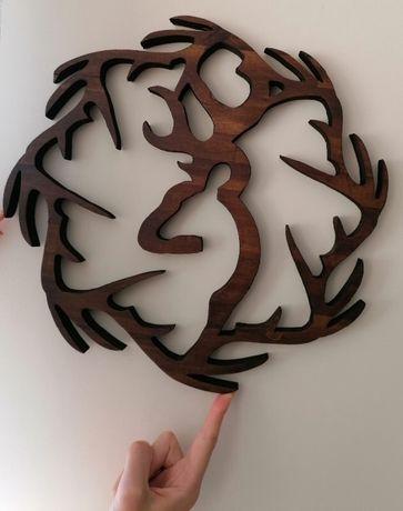Декорация за стена дърворезба акация