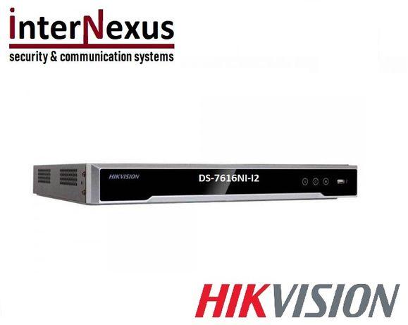 16-кан. 4K Мрежов Рекордер/Сървър DS-7616NI-I2 Резолюция до 12 Mpx/4K