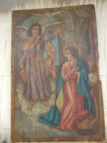 Icoana veche 100 ani - pictata pe lemn BUNA VESTIRE