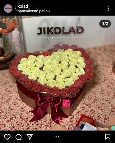 Шоколадные букеты , шоколадные розы , цветы