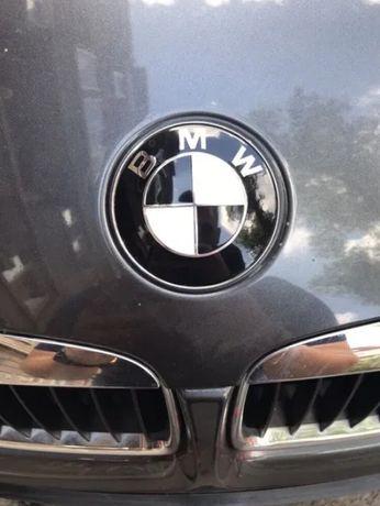 НОВА! Черно Бяла Емблема БМВ / BMW 82/74/68/45 мм Капачки За Джанти