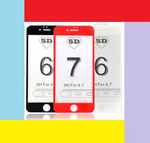 3D/5D/10D Folie sticla iPhone 6,7,8 PLUS, X/Xs/XR/Xs Max/11, 11Pro/Max
